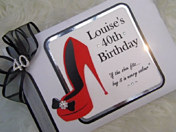 Red & Black Personalised Birthday Guest Book